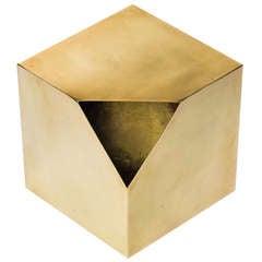 Cubist Brass Sculpture after Paul Evans