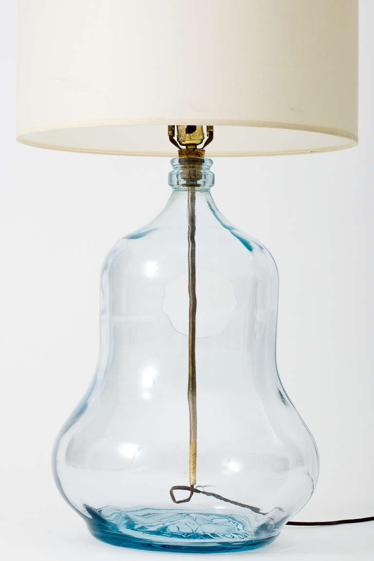 Glass Bottle Lamps Mexican Glass Gourd Bottle Lamps At 1stdibs