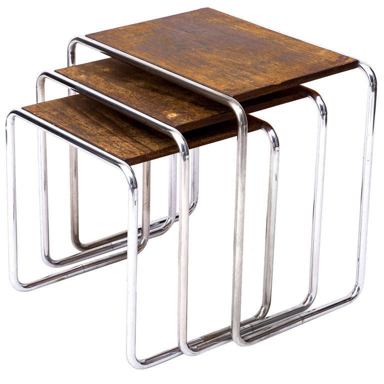 original marcel breuer b9 nesting tables at 1stdibs. Black Bedroom Furniture Sets. Home Design Ideas