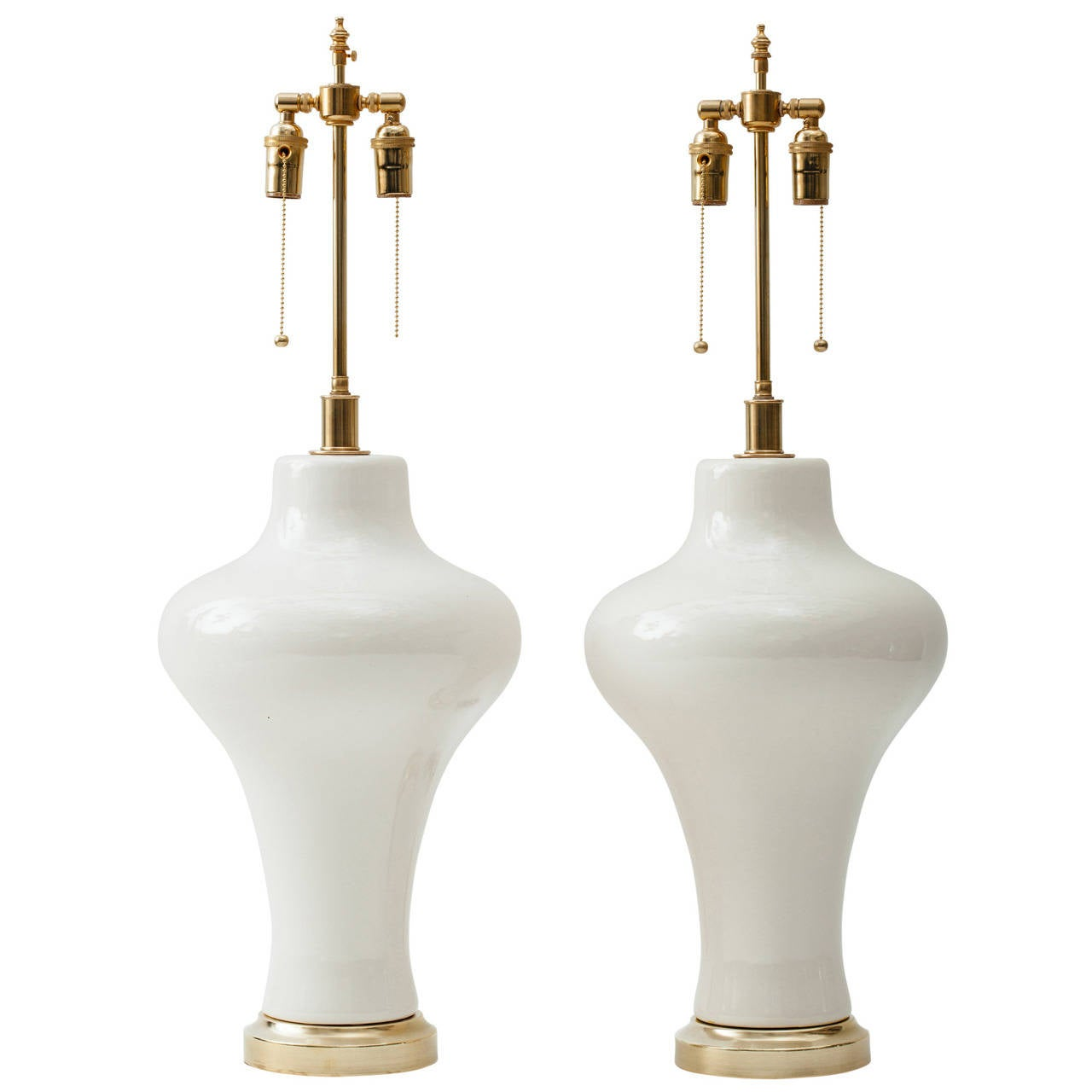 Monumental 1960s Sculptural Italian Ceramic Lamps