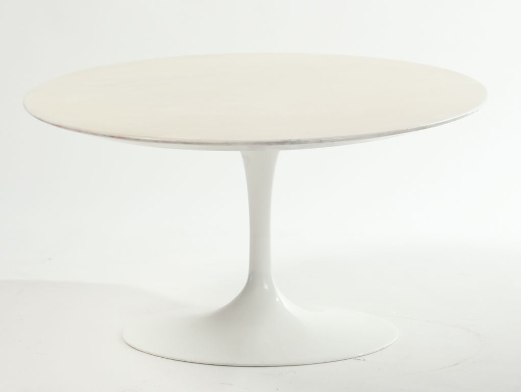 Eero Saarinen Marble Top Tulip Coffee Table At 1stdibs
