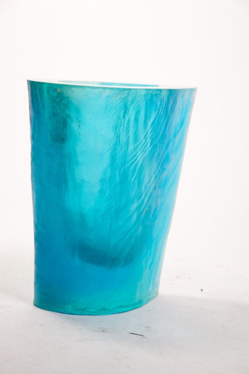 Hand-Crafted Terry Balle Acrylic Optical Sculpture Vase For Sale
