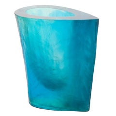 Terry Balle Acrylic Optical Sculpture Vase