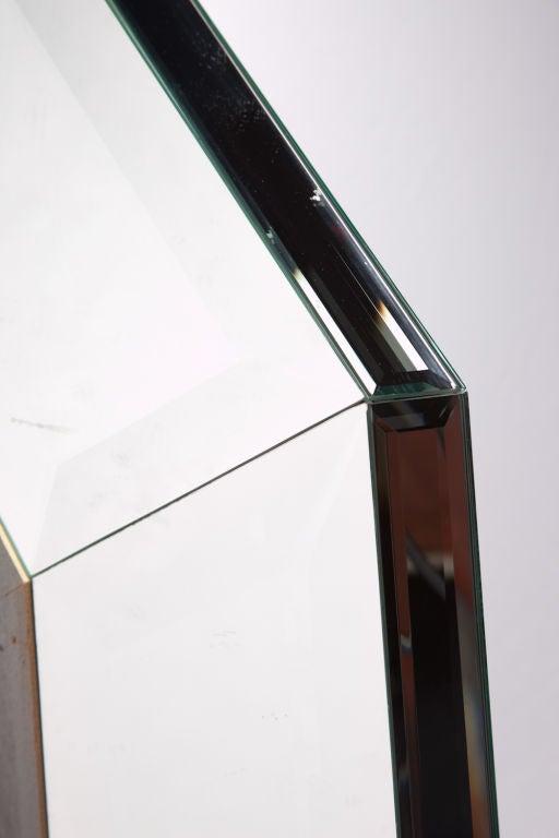 Octagonal 1970s beveled glass mirror after karl springer for Octagon beveled mirror