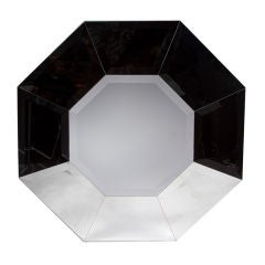 Karl Springer Octagonal 1970s Beveled Glass Mirror