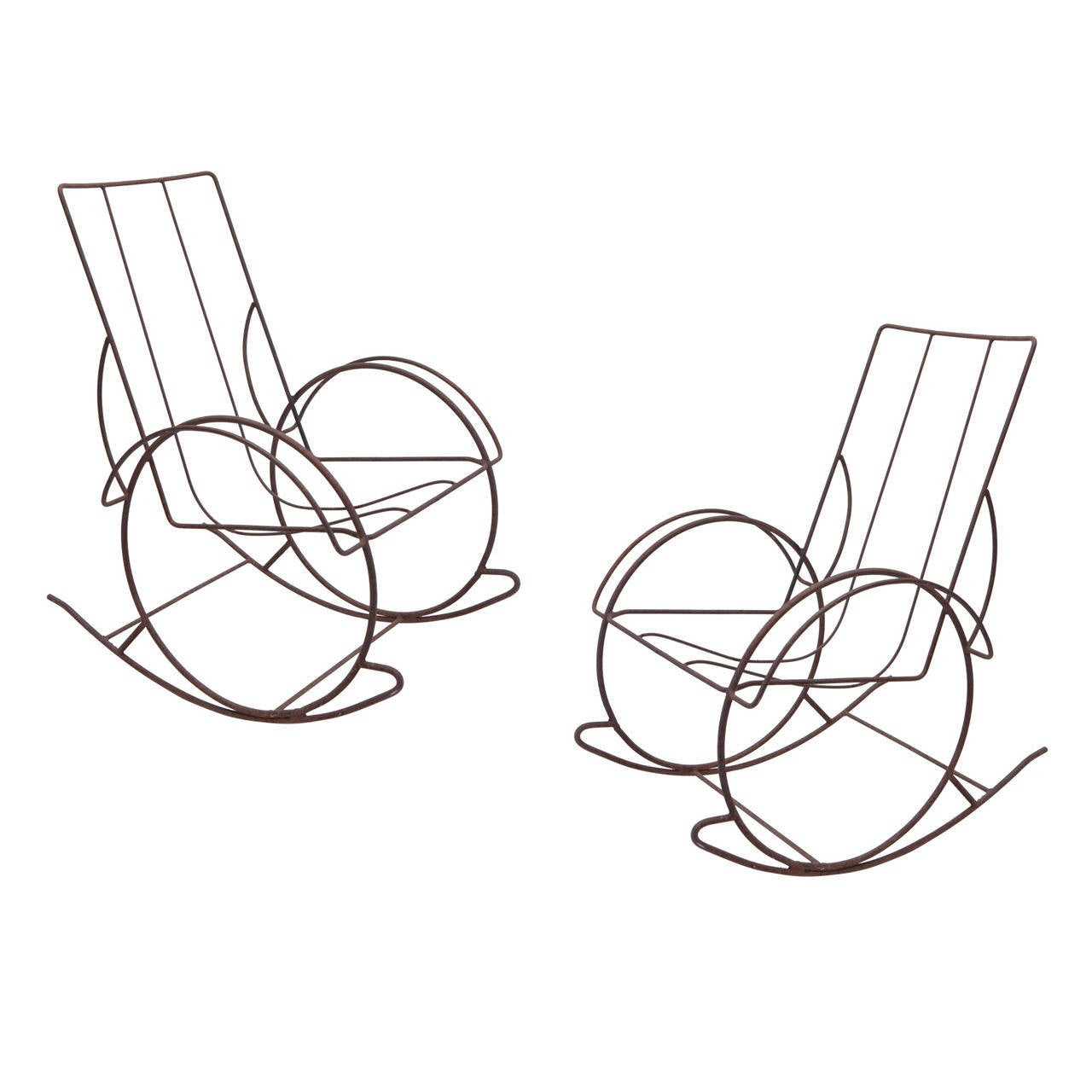 pair of modernist iron rocking chairs from the 1930s at 1stdibs