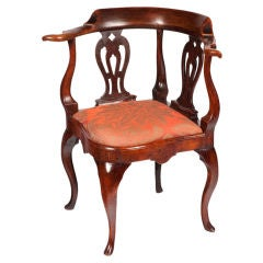 English fruitwood & elm corner chair