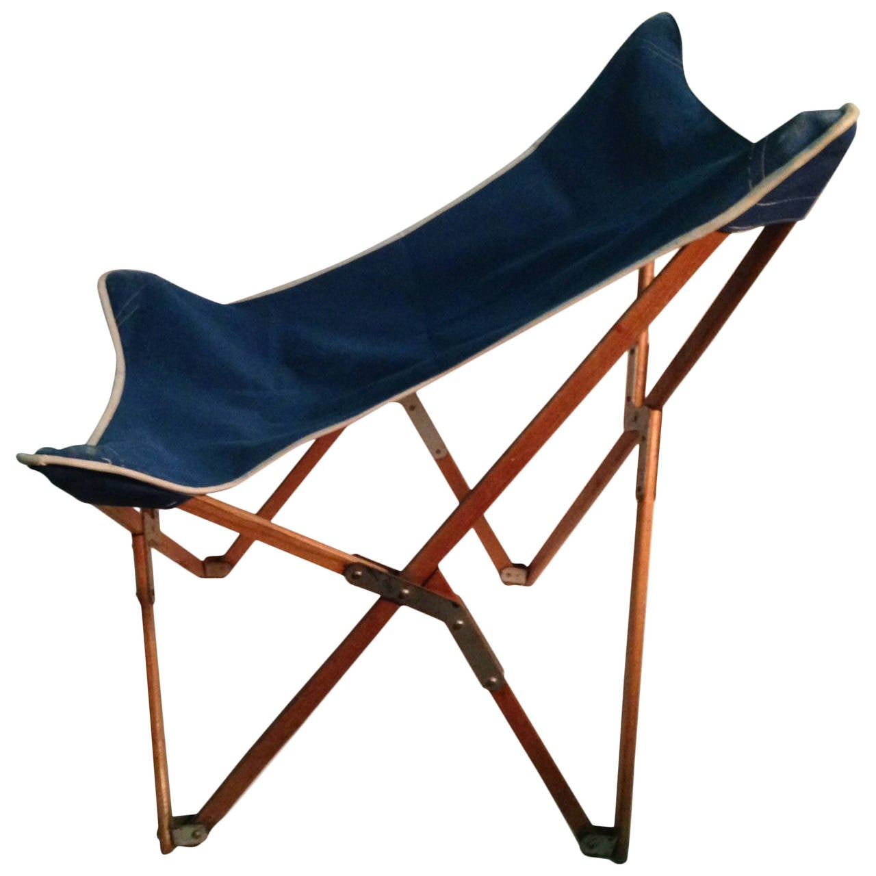 1930 s Mogens Lassen Folding Chair with Early Canvas Seat Danish For Sa
