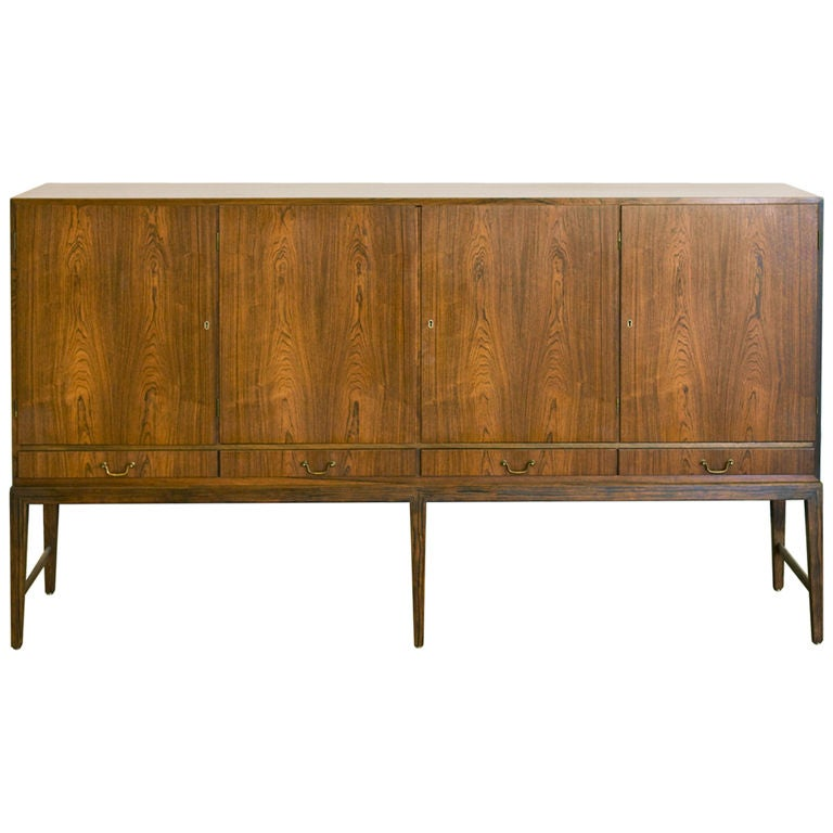 Danish Sideboard in Rosewood For Sale