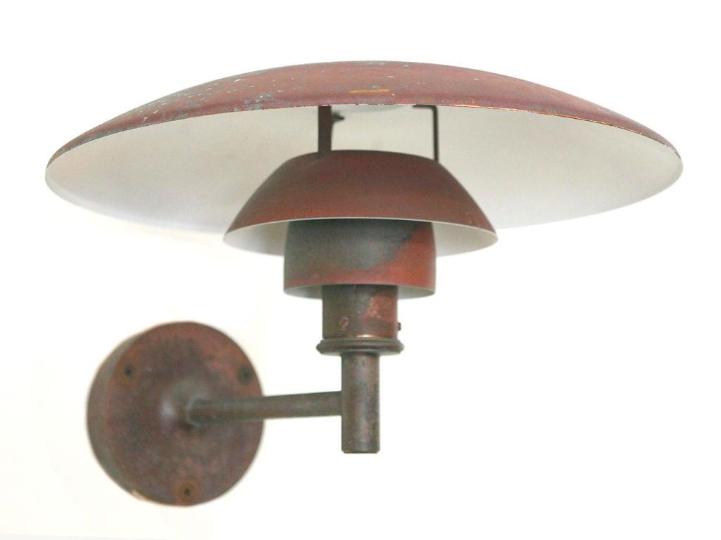 Mid-Century Modern SET OF 4 Copper Wall Light by Poul Henningsen PH4,5/3 model For Sale