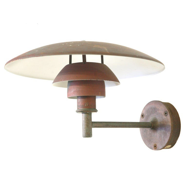 set of 4 copper wall light by poul henningsen ph4 5 3 model for sale at 1stdibs. Black Bedroom Furniture Sets. Home Design Ideas