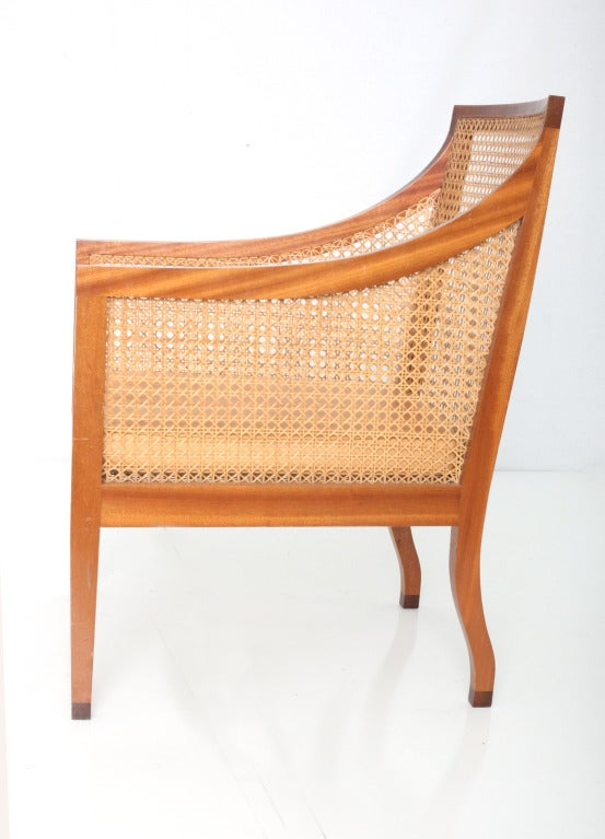 Danish Kaare Klint Bergere armchair For Sale