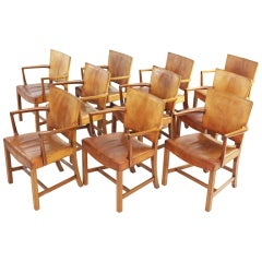 Kaare Klint armchairs, set of ten