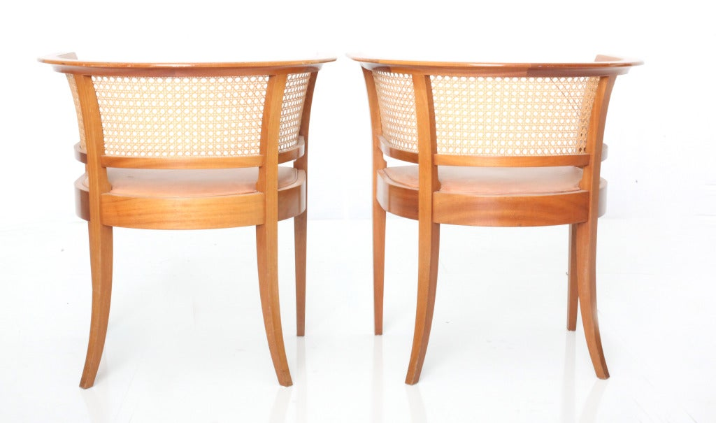Danish Kaare Klint Faaborg chair ( pair) For Sale