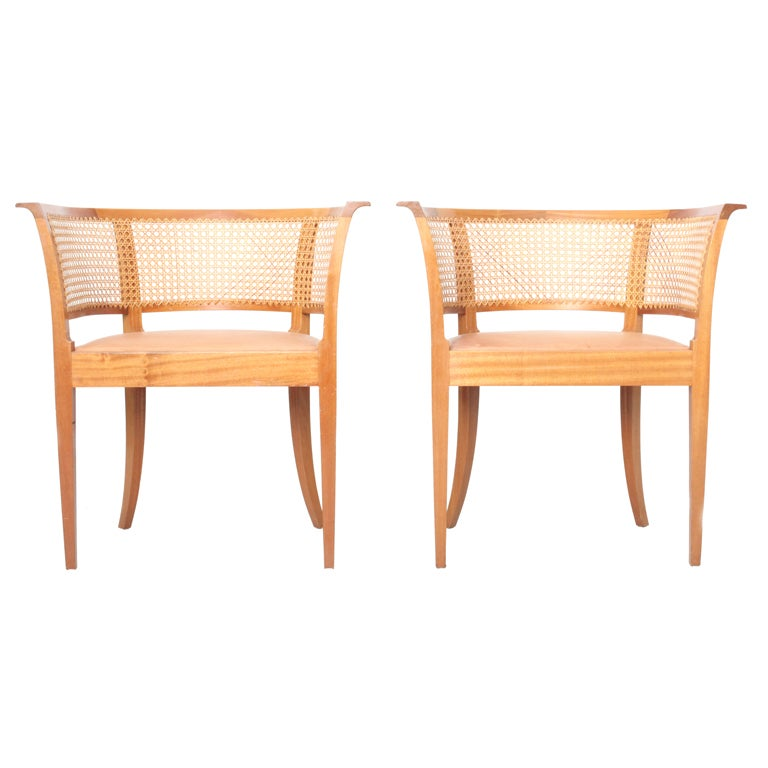 Kaare Klint Faaborg chair ( pair) For Sale