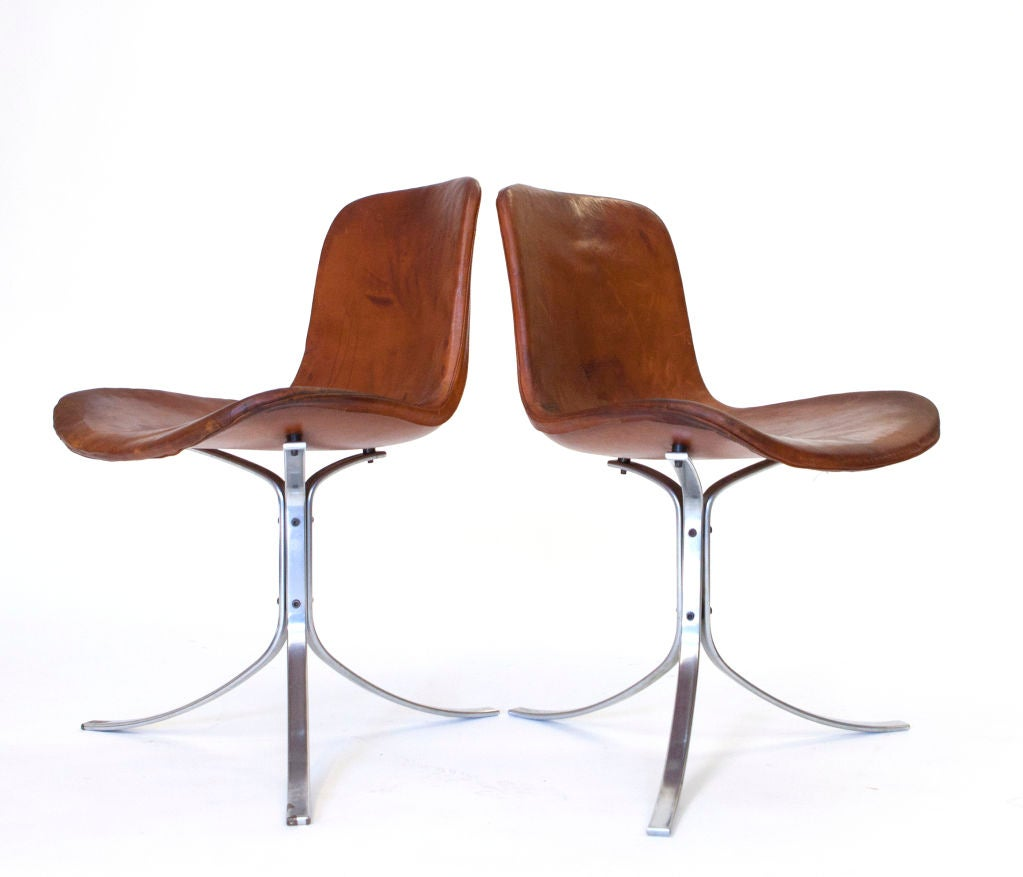 PK-9 Chairs by Poul Kjaerholm For Sale 1