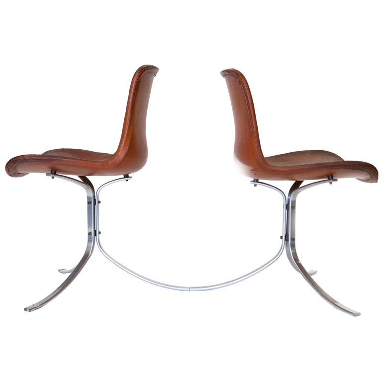 PK-9 Chairs by Poul Kjaerholm For Sale