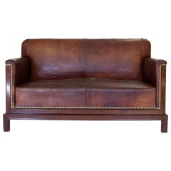 Jacob Kjaer Leather Sofa