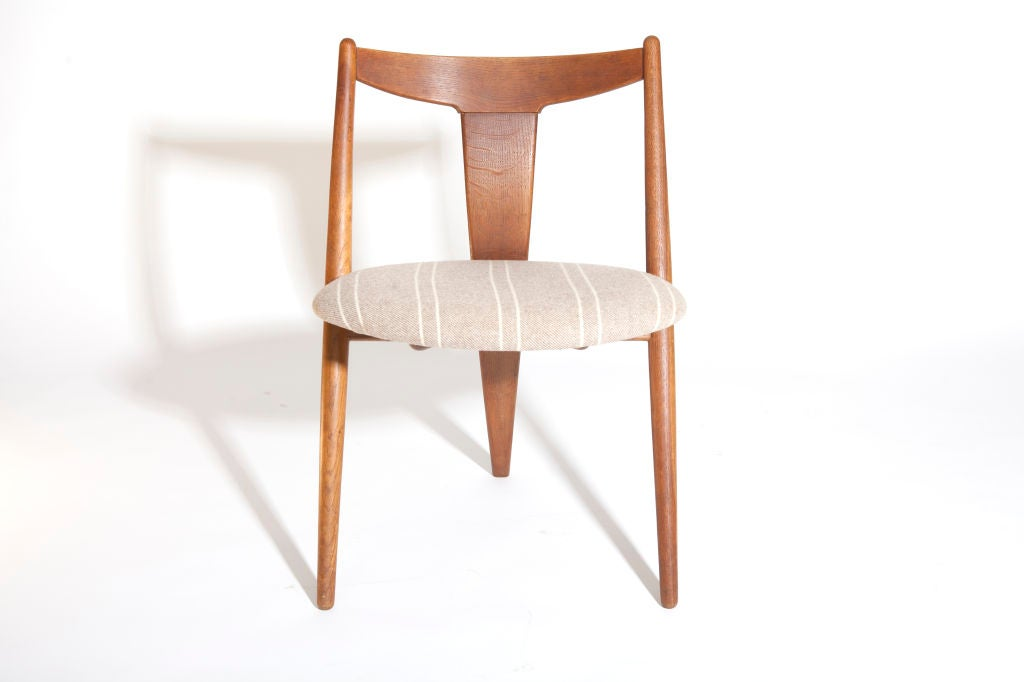 Quot Visbon Quot Chair Pair Of Three Legged Chairs At 1stdibs