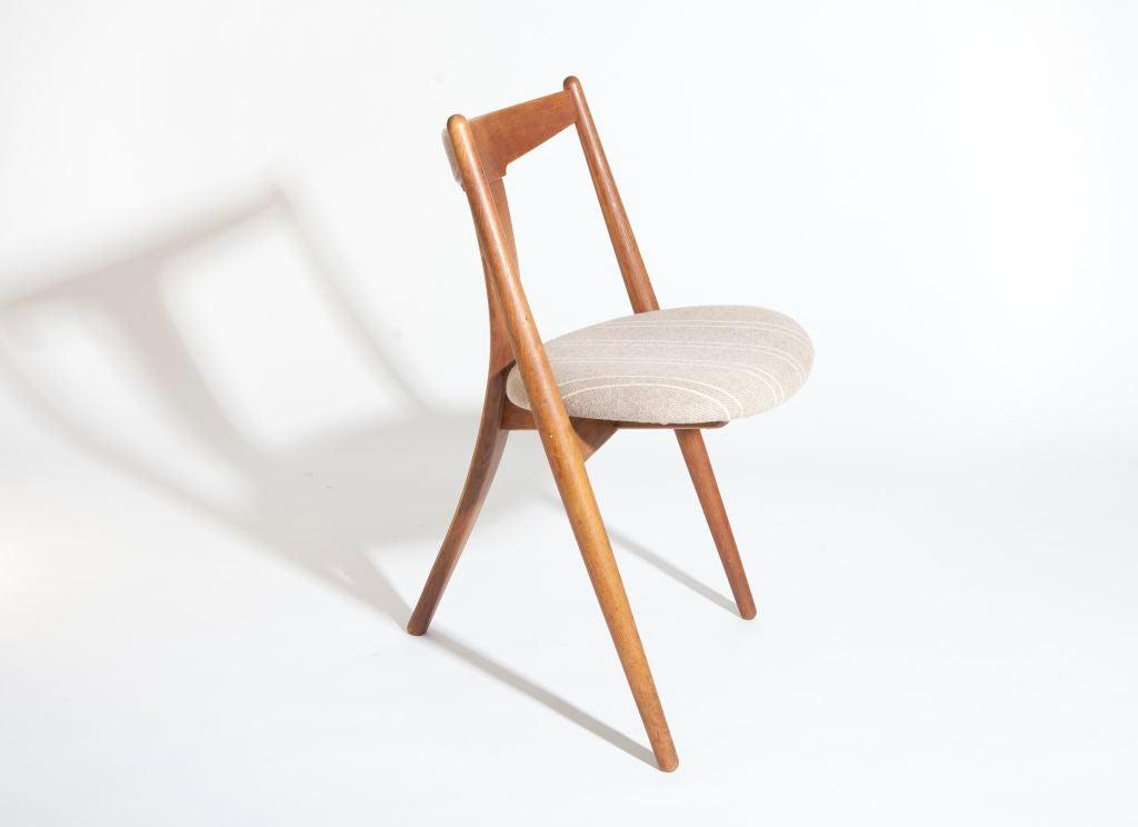 """""""Visbon"""" Chair, Pair of Three Legged Chairs 4"""