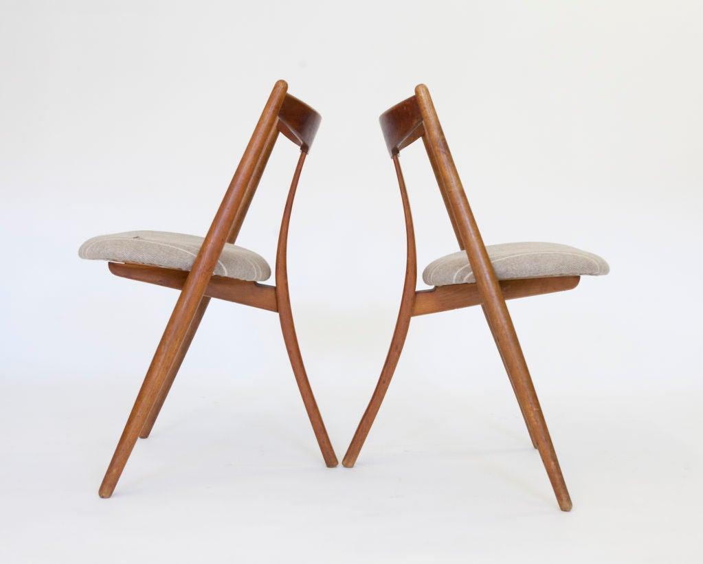 """""""Visbon"""" Chair, Pair of Three Legged Chairs 6"""