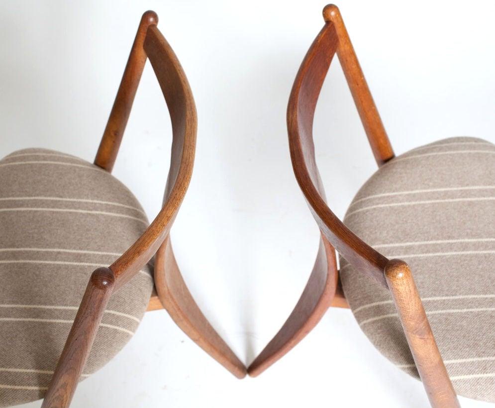 """""""Visbon"""" Chair, Pair of Three Legged Chairs 7"""