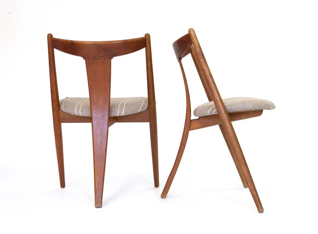 """""""Visbon"""" Chair, Pair of Three Legged Chairs 8"""
