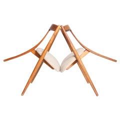 """""""Visbon"""" Chair, Pair of Three Legged Chairs"""