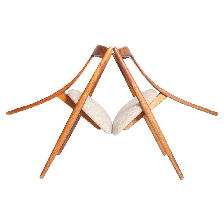 """""""Visbon"""" Chair, Pair of Three Legged Chairs 1"""