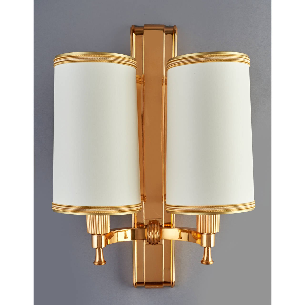 Elegant 1940's Bronze Sconces by Maxime Old 2