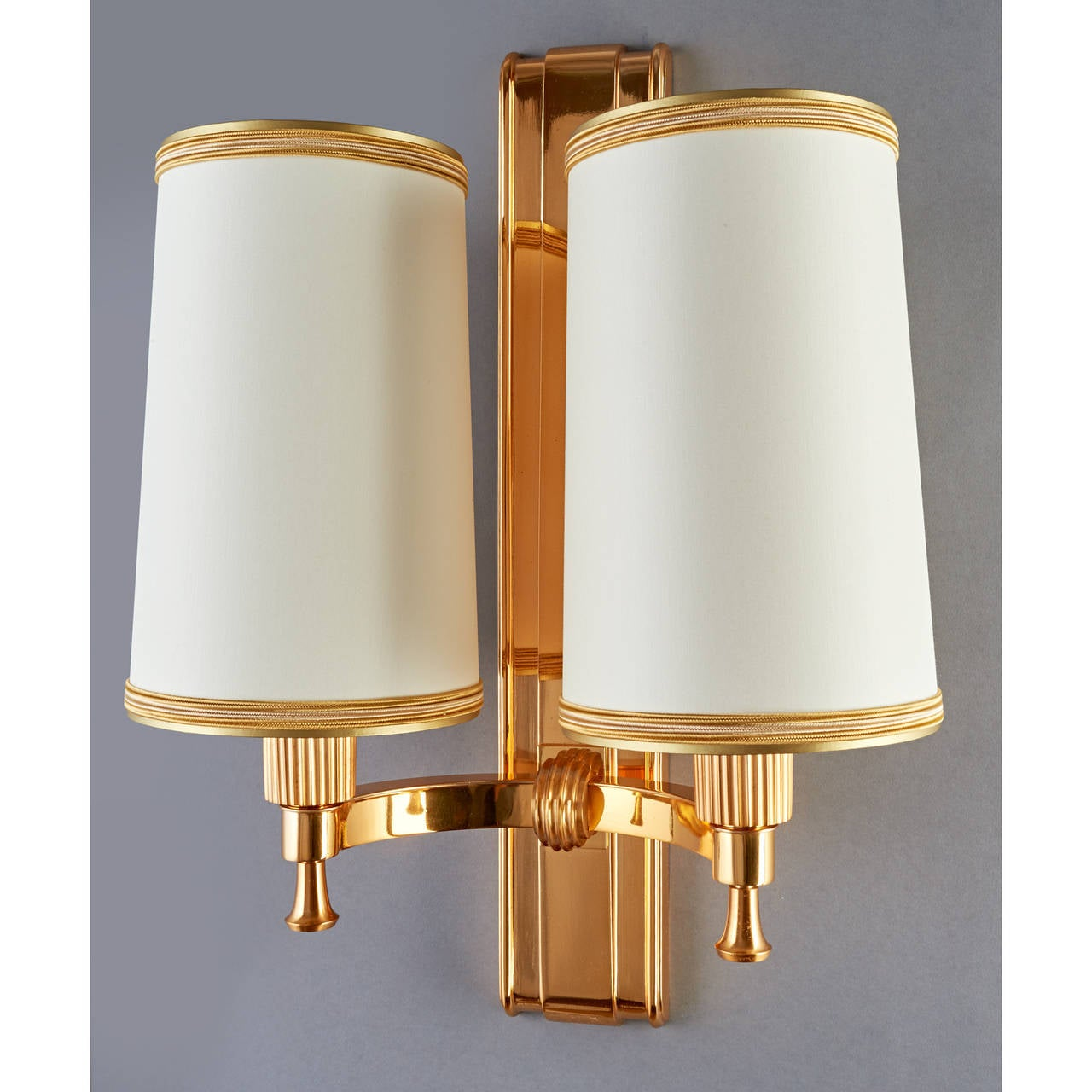 Elegant 1940's Bronze Sconces by Maxime Old 3