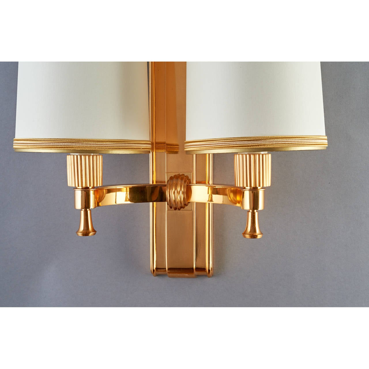 Elegant 1940's Bronze Sconces by Maxime Old 4
