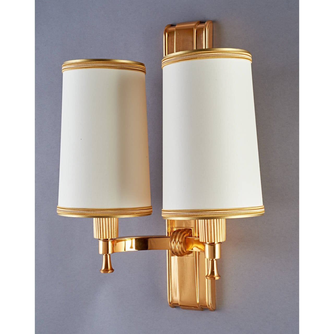 Elegant 1940's Bronze Sconces by Maxime Old 6