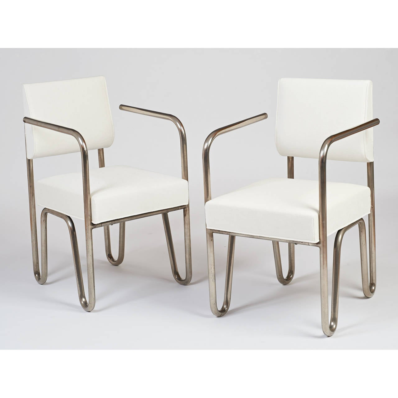 Early Pair of Tubular Metal Chairs by Andre Sornay, ca. 1929 2