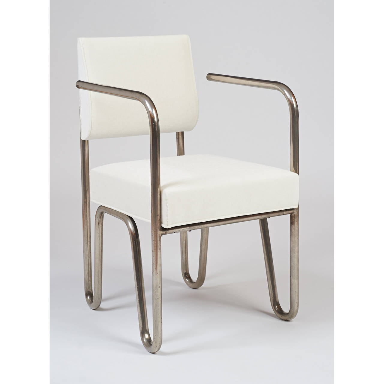 Early Pair of Tubular Metal Chairs by Andre Sornay, ca. 1929 3