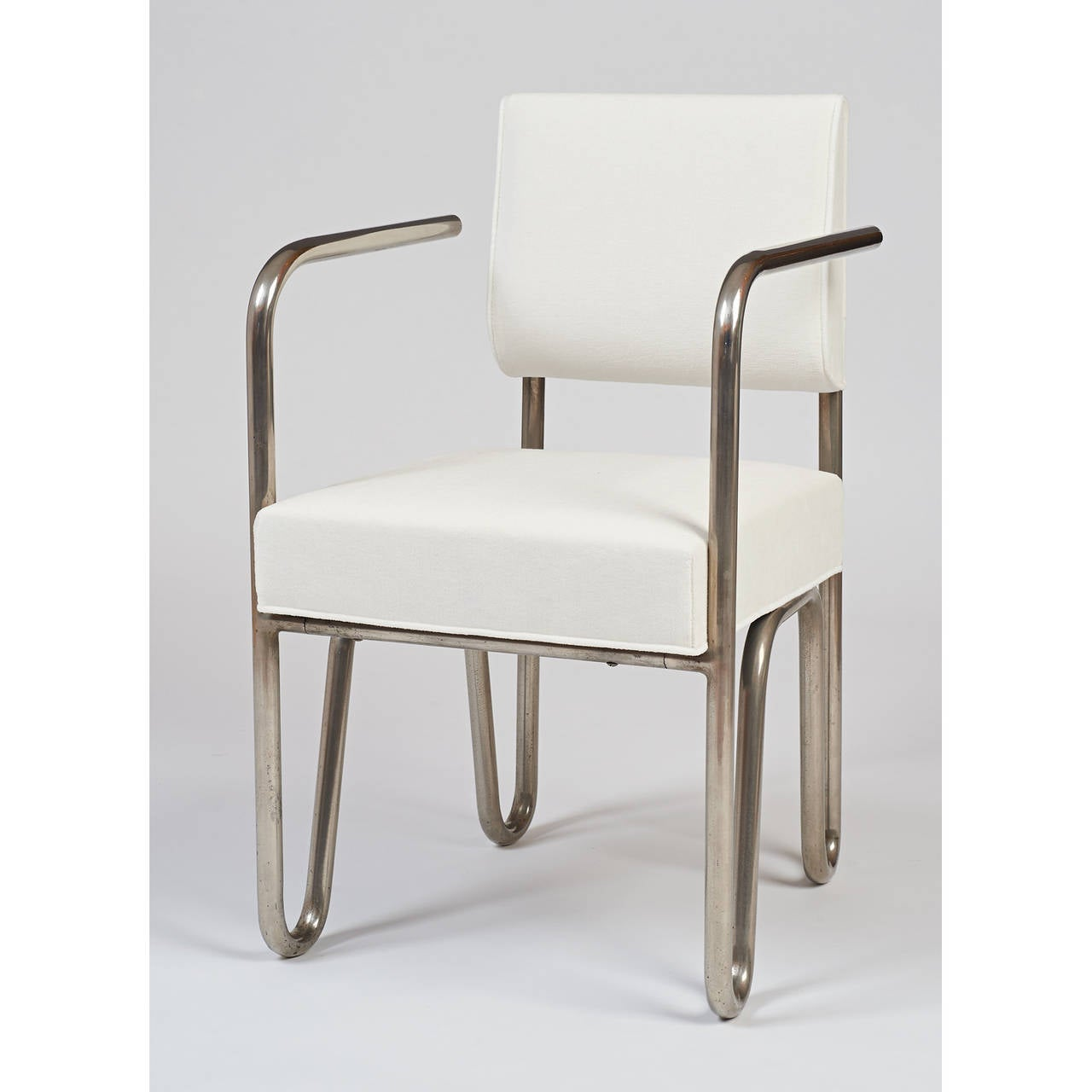 Early Pair of Tubular Metal Chairs by Andre Sornay, ca. 1929 4