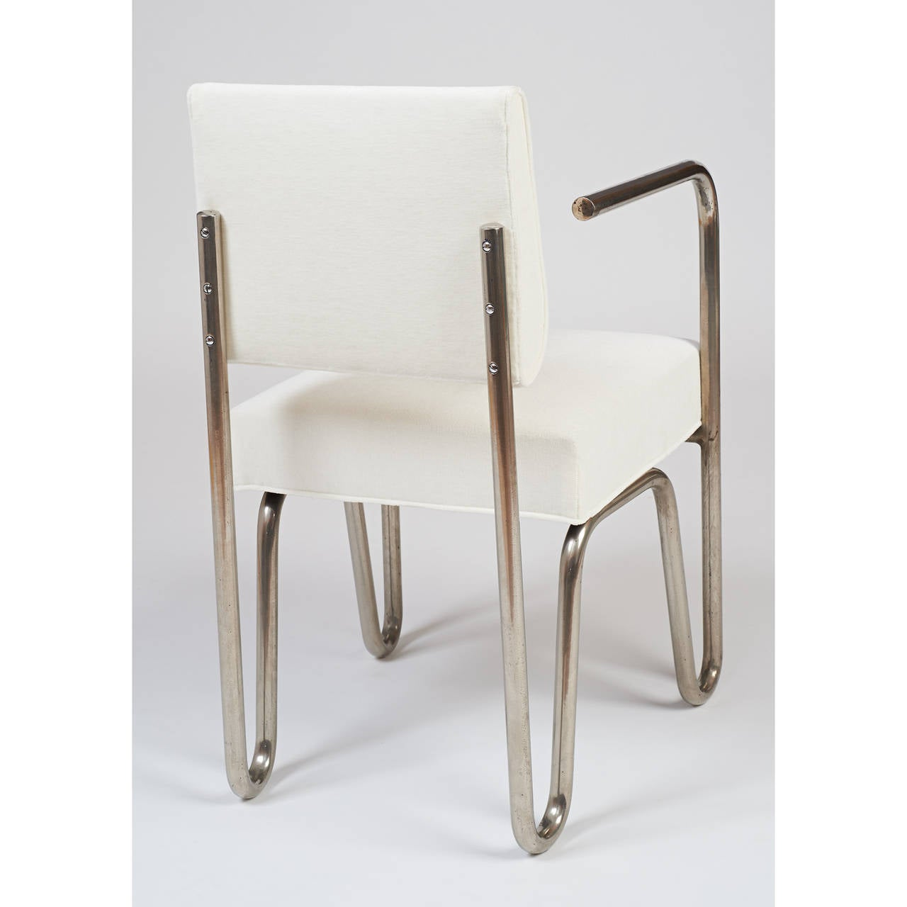 Early Pair of Tubular Metal Chairs by Andre Sornay, ca.1929 5