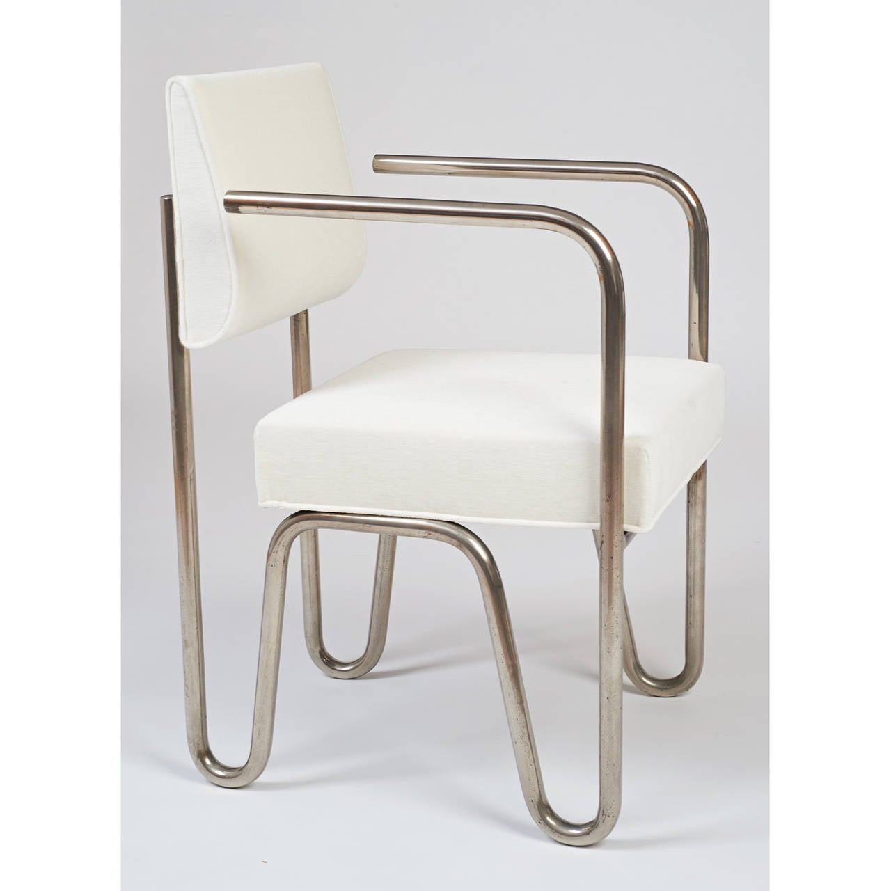 Early Pair of Tubular Metal Chairs by Andre Sornay, ca. 1929 6