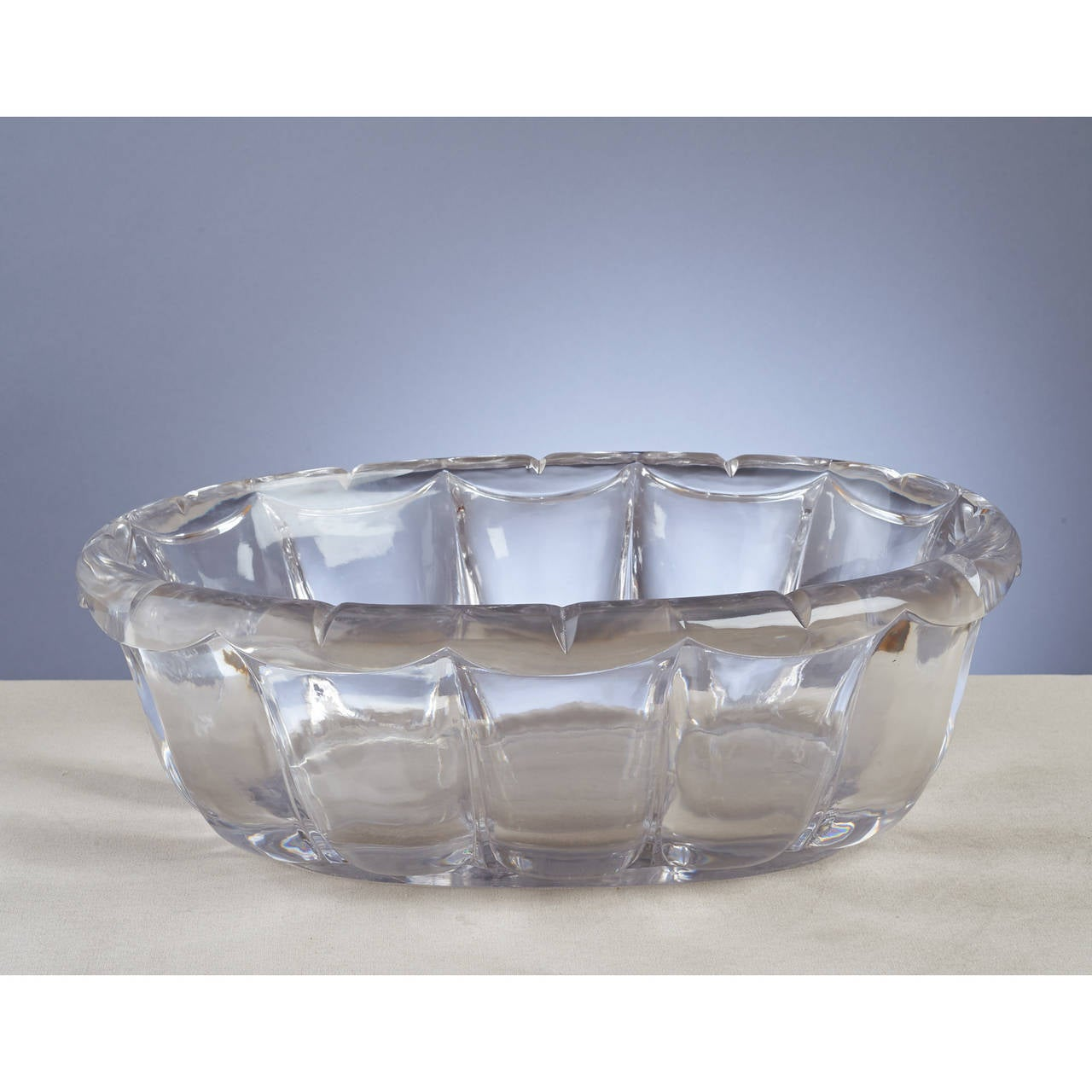 Exceptional sue et mare oval crystal centerpiece s at