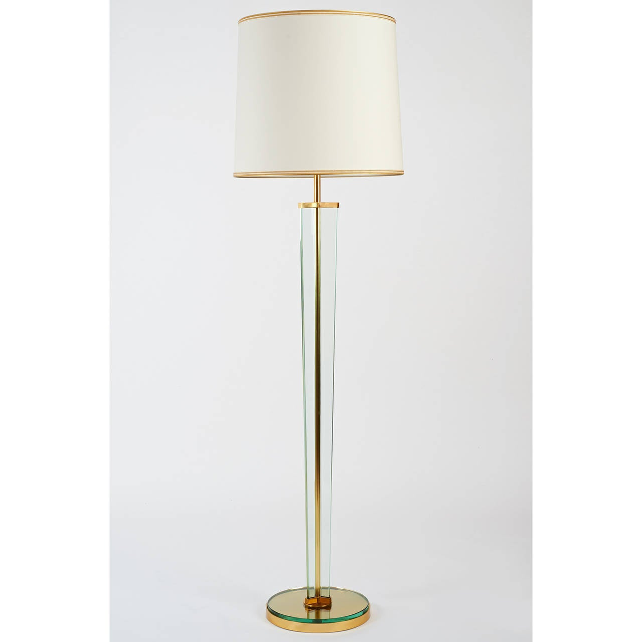 Important fontana arte glass 1950s floor lamp for sale at for 1950s floor lamps