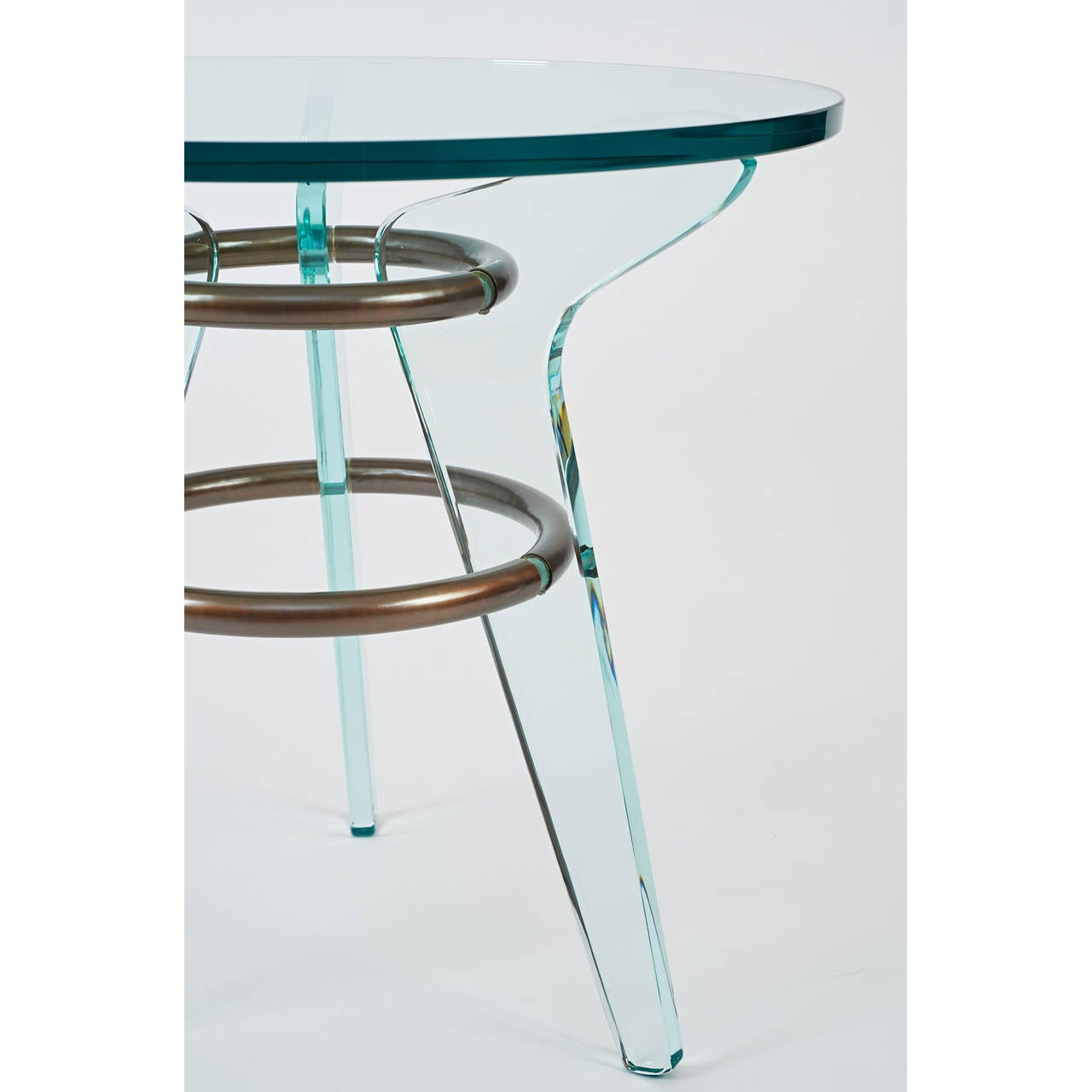 Pair Of Italian Midcentury Glass Tables At 1stdibs