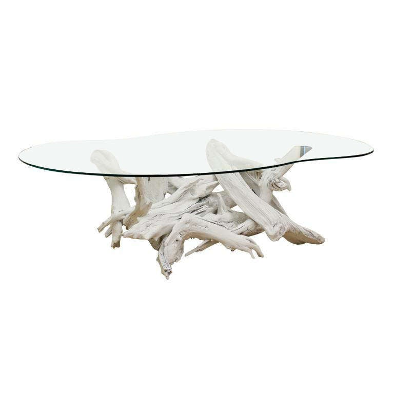 White Driftwood Coffee Table At 1stdibs