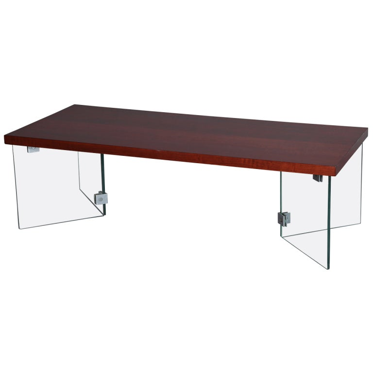 jacques dumond 1950s coffee table with glass legs for sale at 1stdibs
