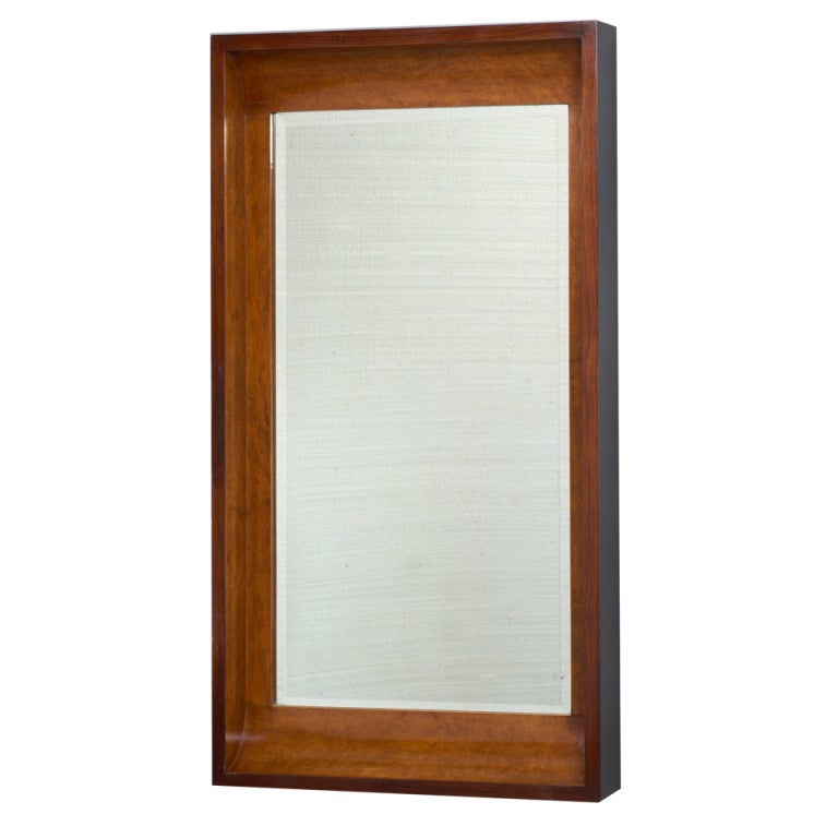 Italy 1930 39 s long burlwood mirror at 1stdibs for Long wall mirrors for sale