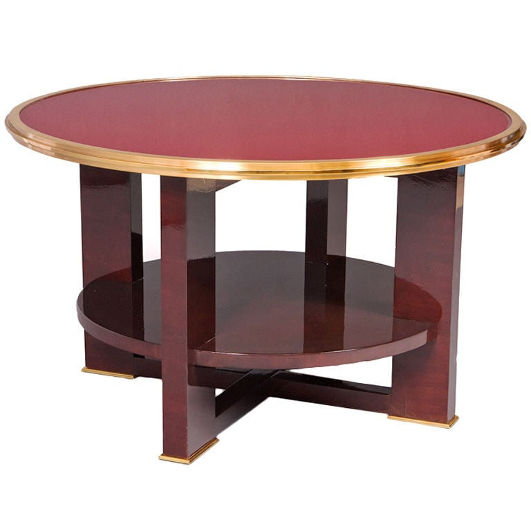 Classic Vintage French 55 Square Two Tier Brass Glass: France 1950's Two Tiered Table At 1stdibs