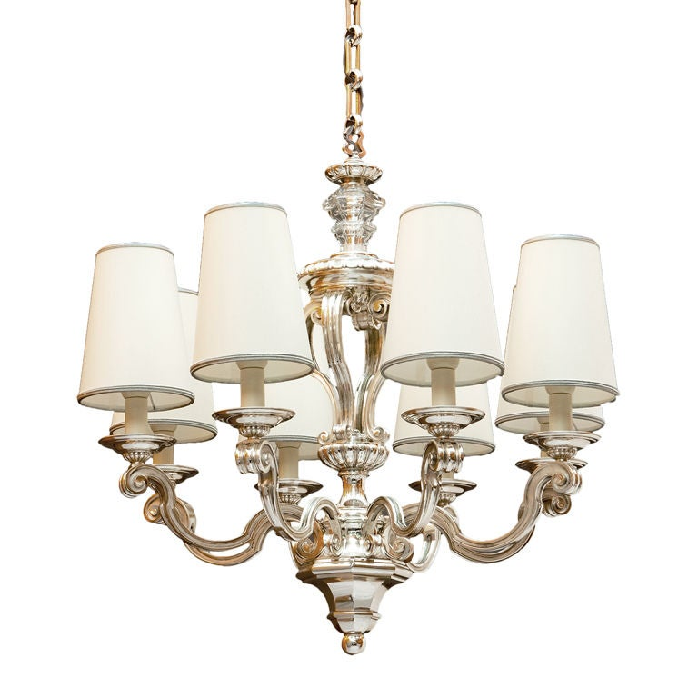 Eight Branch Neo Classical Chandelier at 1stdibs