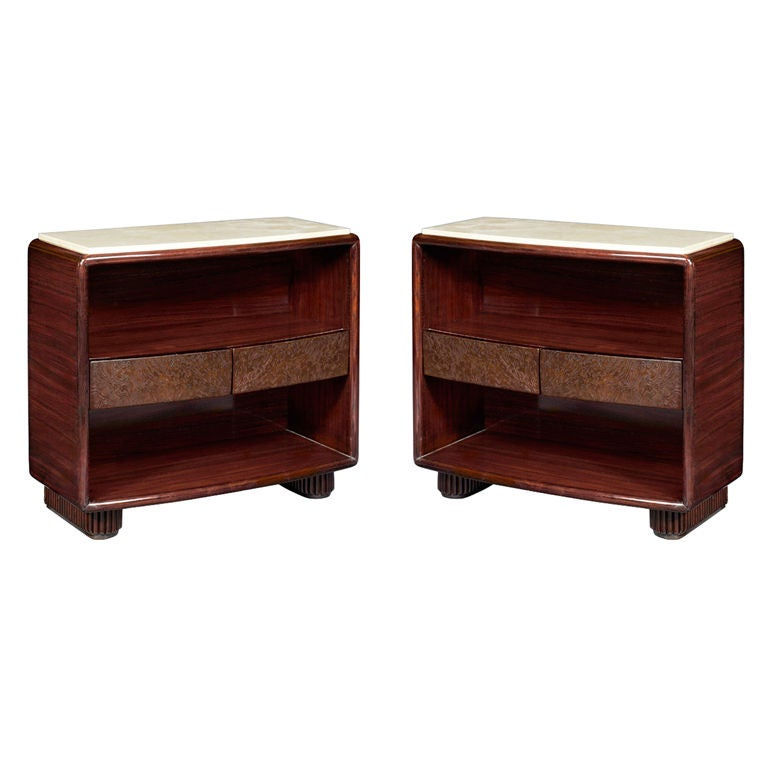 Pair of Bedside Tables, Italy, 1930s