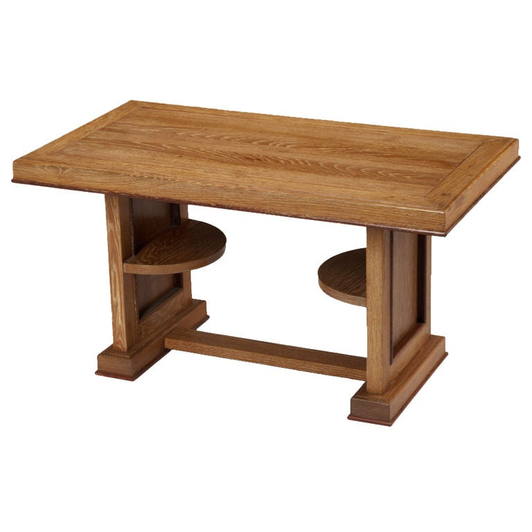 Cerused Oak Coffee Table, France, 1950s For Sale