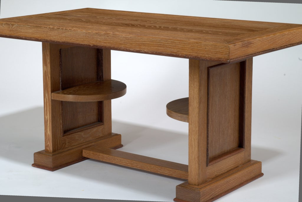 French Cerused Oak Coffee Table, France, 1950s For Sale