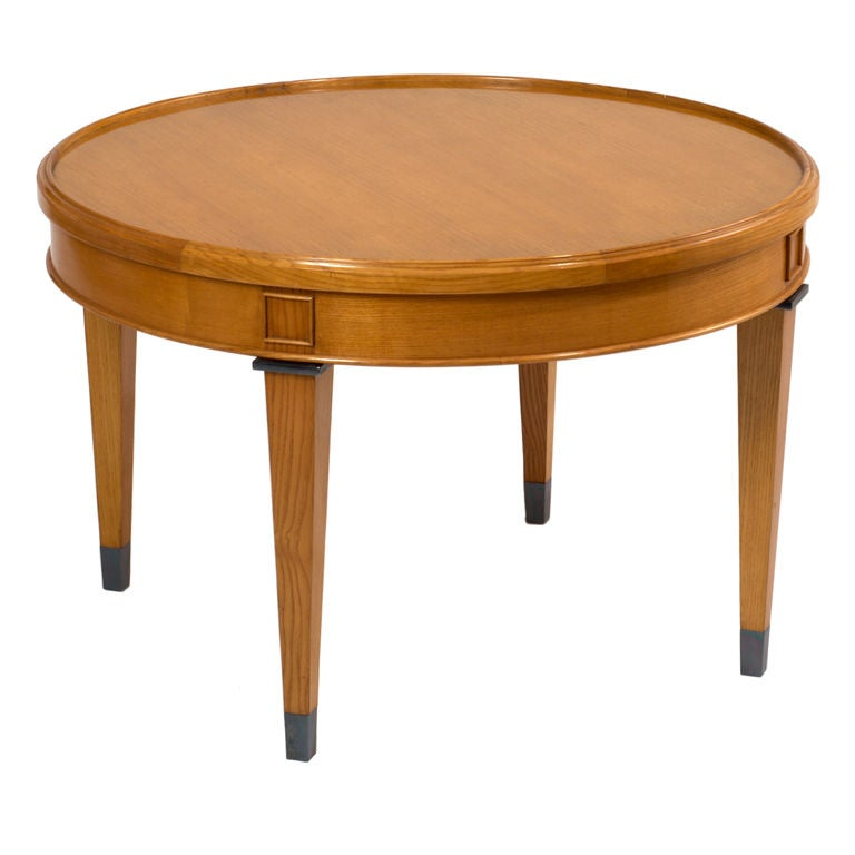 Light Wood Neoclassical Coffee Table, France, 1950s